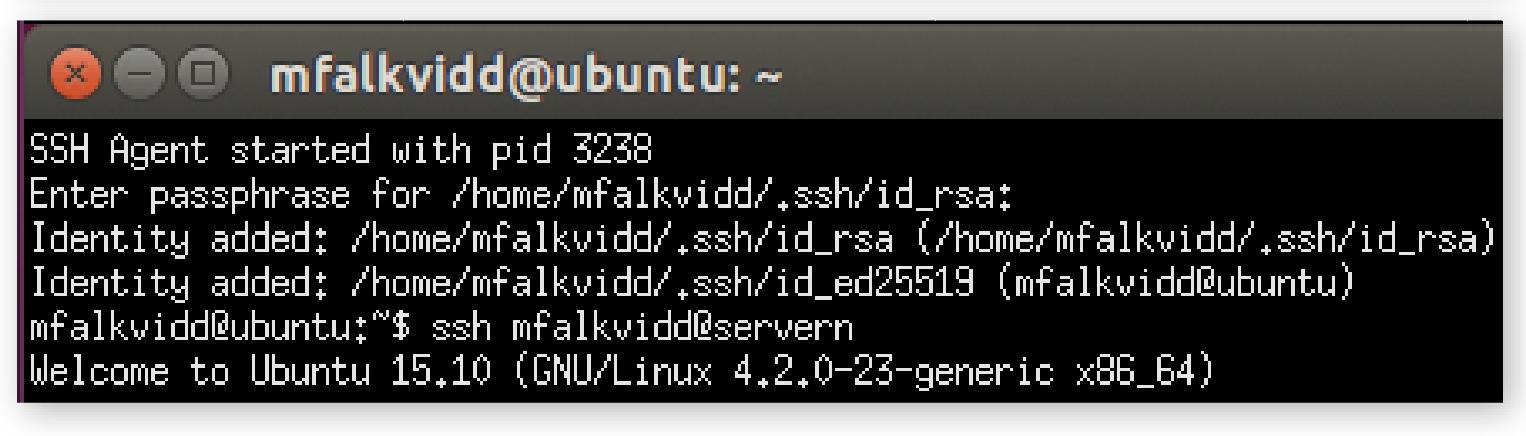 Datormagazins skript laddar dina SSH-nycklar första gången du startar en terminal. Sedan finns de tillgängliga utan lösenord när du ska logga in på andra datorer. Säkert och smidigt.