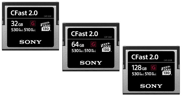 Sony Cfast sd-kort
