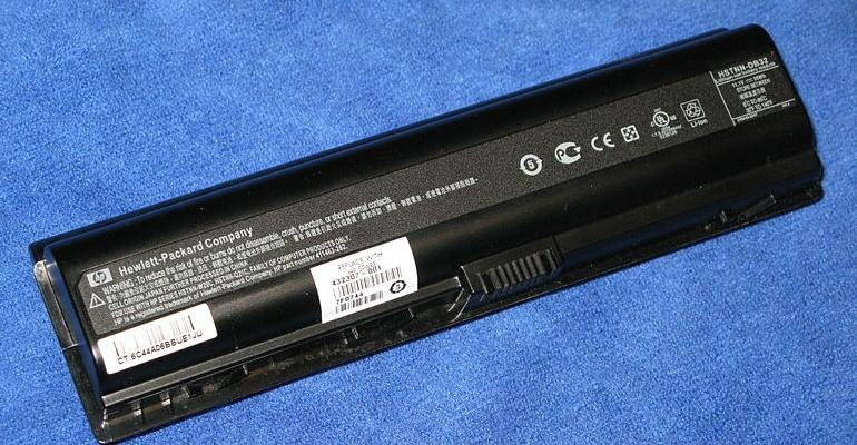 HP batterier kan brinna