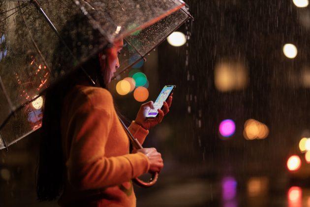 Iphone XS regn och stötar
