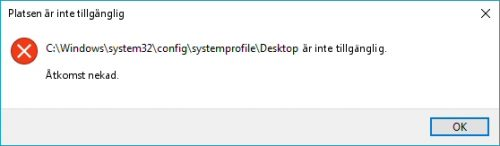 Desktop not found