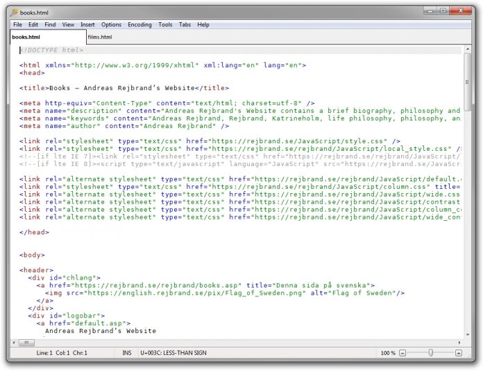 Rejbrand Text Editor