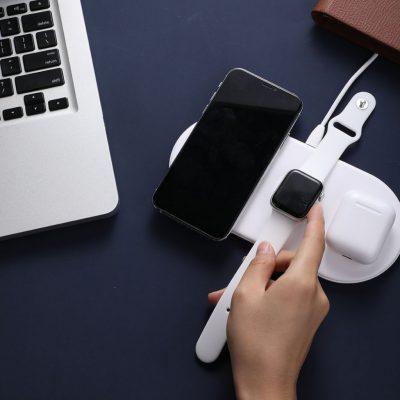 Baseus Smart 3 i 1 Trådlös Laddare för Apple Watch, telefon och AirPods