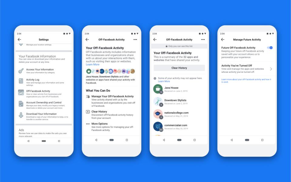 Facebook lanserar verktyg för begränsning av dataspridning