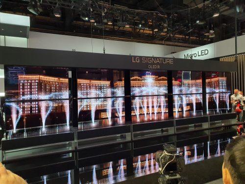LG:s upprulningsbara OLED-TV, CES 2020