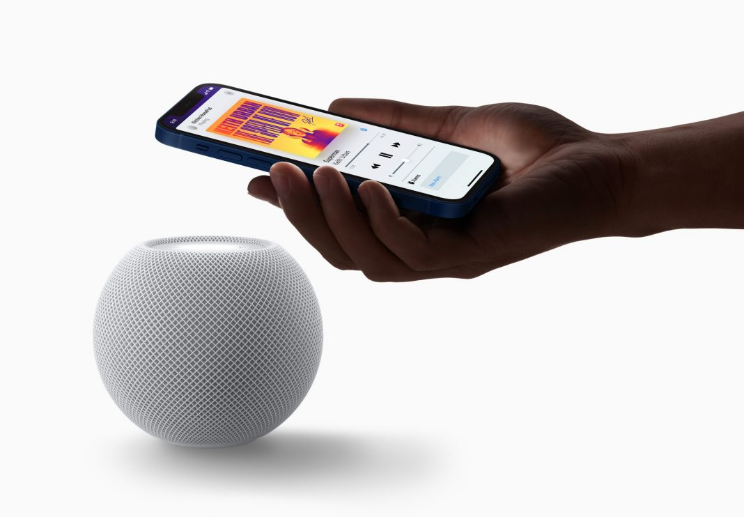 Apple Homepod Mini med Iphone 12