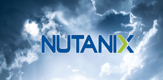 Nutanix logo in the clouds