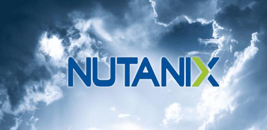 Nutanix logo in the clouds