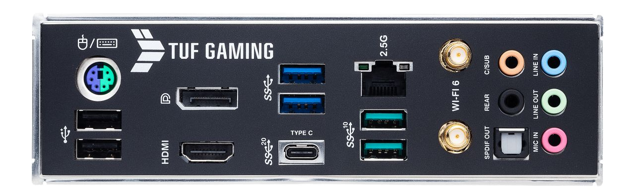 Asus TUF Gaming Z590-Plus WiFi-IO-panel