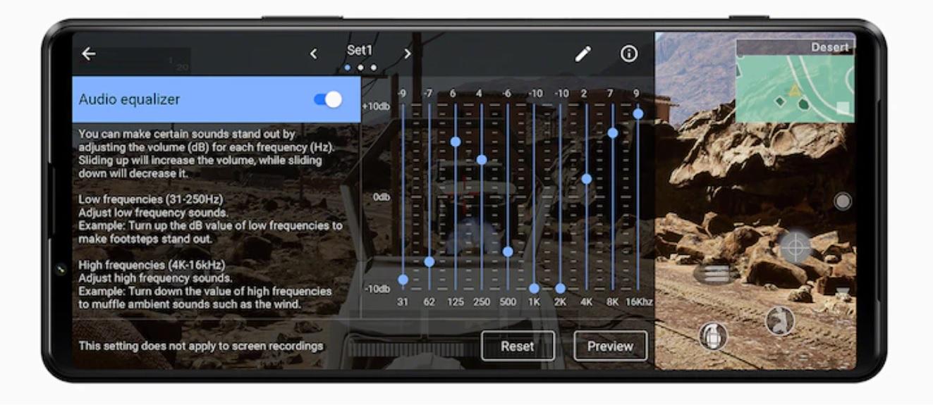 Sony Xperia 1 III – ljud