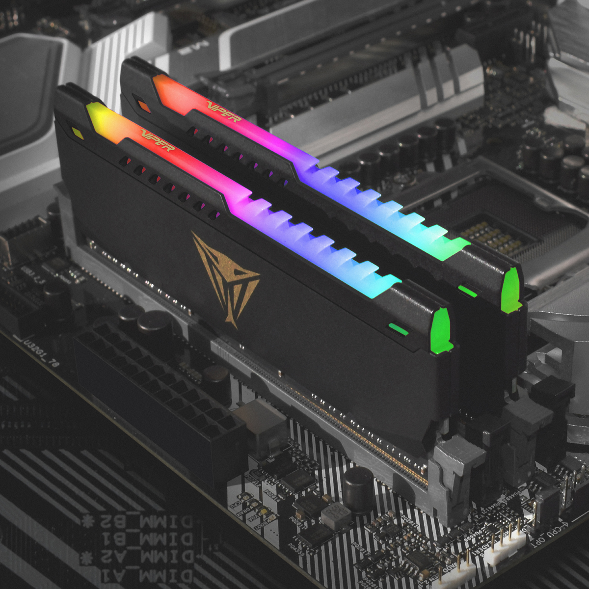 Viper Gaming Black Extreme RGB – belysning