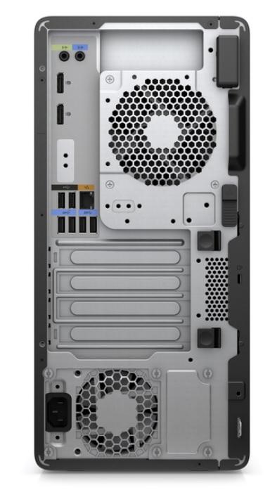 HP Z2 G8 – baksida