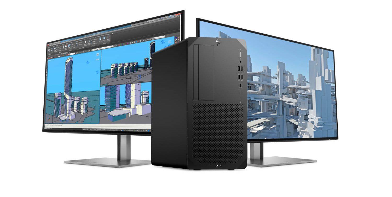 HP Z2 G8 – med skärmar
