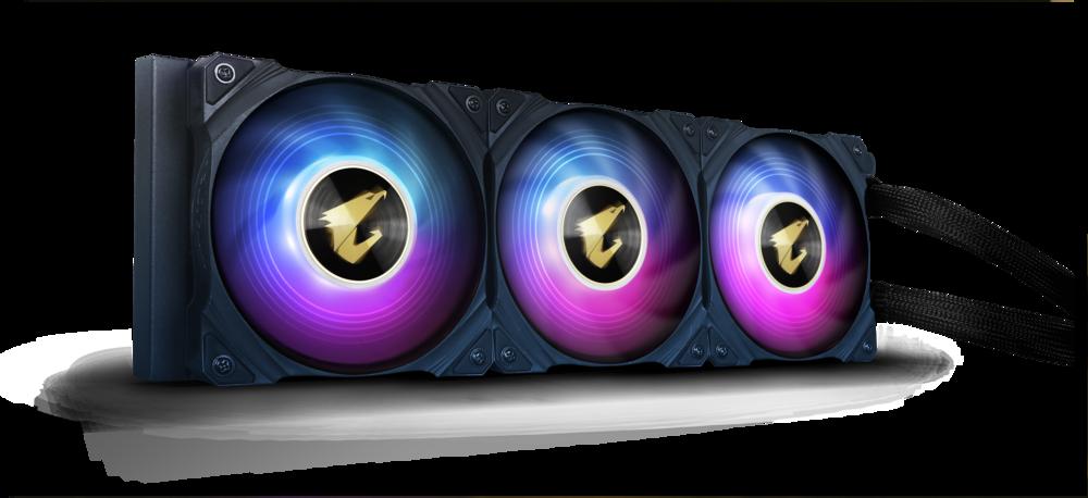 Aorus Waterforce X 360 – fläktar med belysning