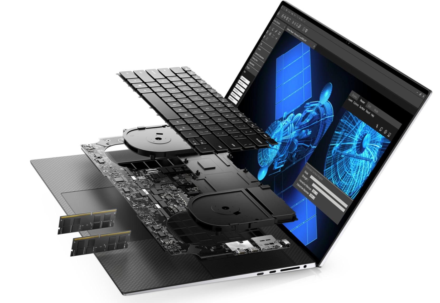Dell Precision 5750 - insida