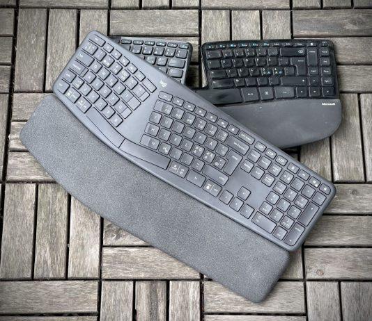 Logitech Ergo K860 och Microsoft Sculpt Ergonomic Keyboard