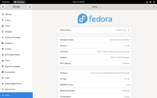 Fedora 35